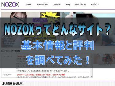 NOZOXってどんなサイト?基本情報と利用者の評判を調べてみた